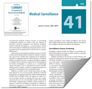 Medical Surveillance chapter thumbnail